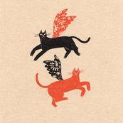 飛ぶ猫たち Flying Cats
