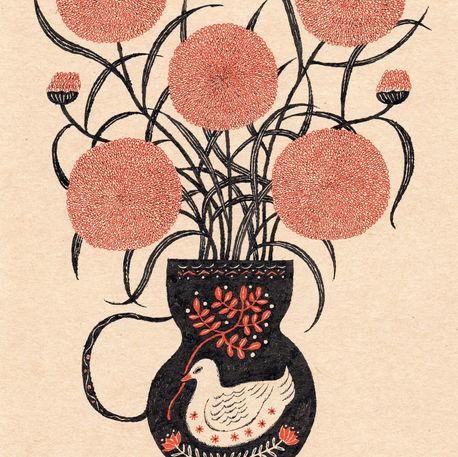花と花器 Flower Vase with Flowers