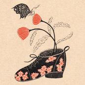 Shoe Flowers Butterfly