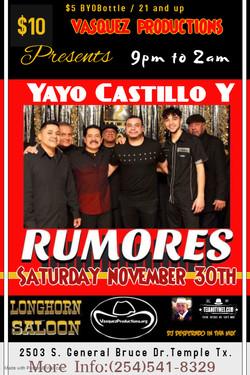 Yayo Castillo Y Grupo Rumores