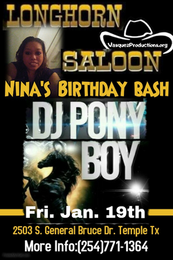 DJ PonyBoy (Nina's Birthday Bash)