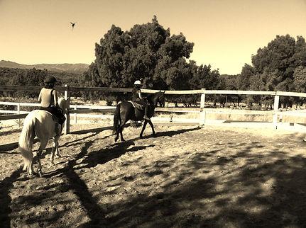 clases a caballo en la pèdriza