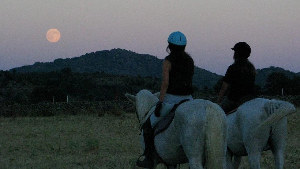 Luna llena a caballo con cena