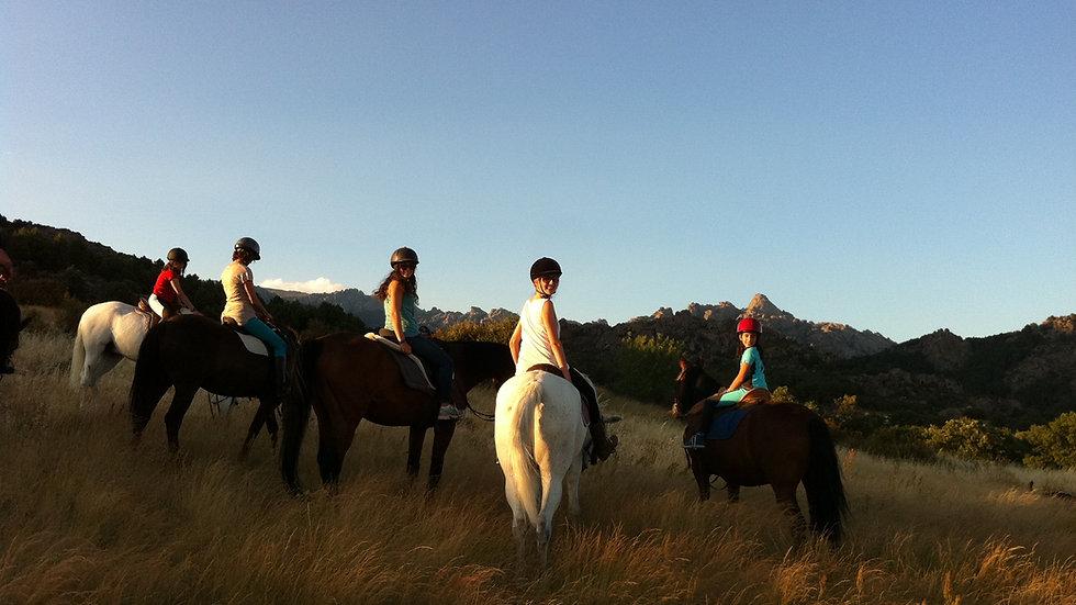Paseo a caballo por La Pedriza 1 hora
