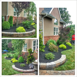 Instagram - Some touch up trimming and mulch at a house we did a design and inst