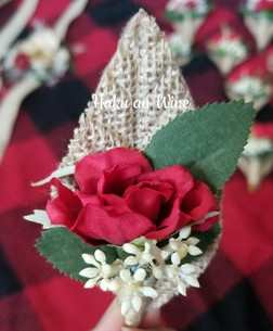 Red Mini Spray Rose Corsage (Artificial)