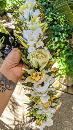 Artificial Tropical Boho Haku Lei