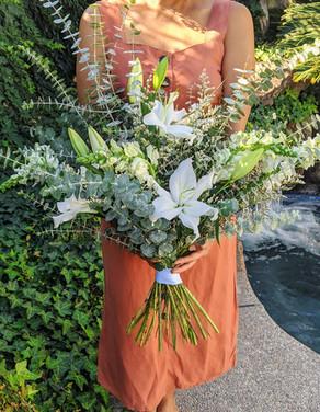 Eucalyptus with Stargazer Bouquet