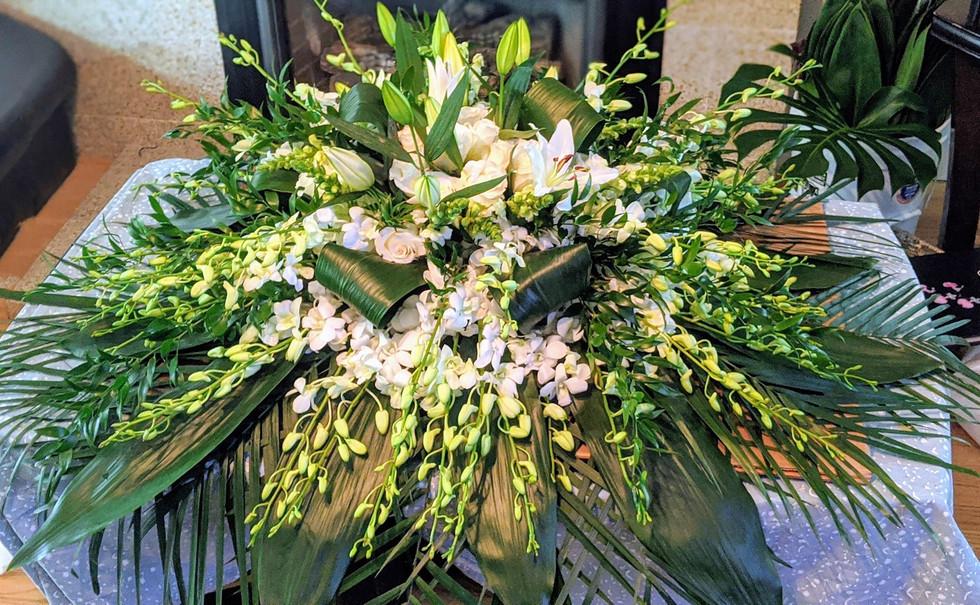 Large Casket Flower Arrangement