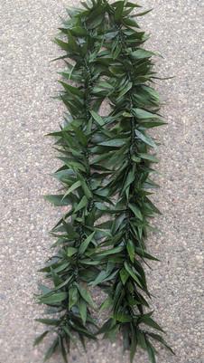 Double Ti leaf Maile Lei