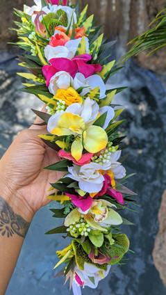 Tropical Boho Haku Lei