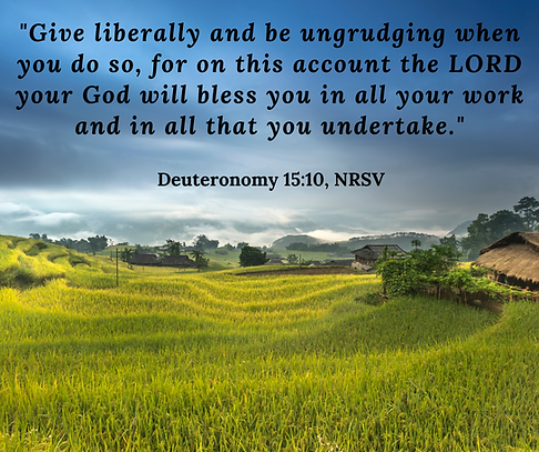 %22Give liberally and be ungrudging when