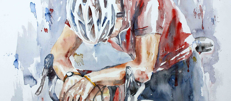 Art exhibition of cycle paintings