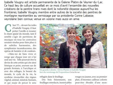 Article - Isabelle VOUGNY : Peintre de l'invisible