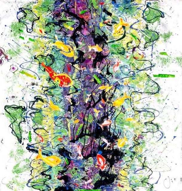 Peinture et collages