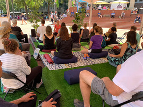 Pause at Pioneer Square! Free OUTDOOR Classes in July & August 🙌
