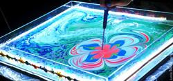Рисунок на воде эбру
