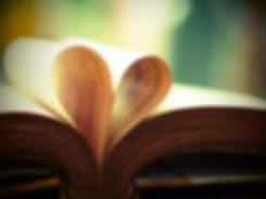 Old book page decorate to heart shape fo