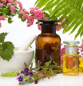 Natural remedies - fresh herbs. Natural