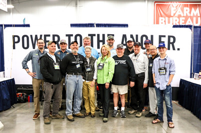 Temple Fork Outfitters  Advisory Staff Members and Ambassadors were ready to share the knowledge of the TFO fly rods, teaching tying classes, speaking at seminars, teaching casting classes and doing casting demos.