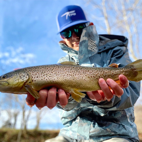 Fishing at Rose River on 1/2/2020