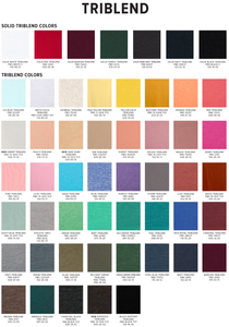 Trilblend Color Chart