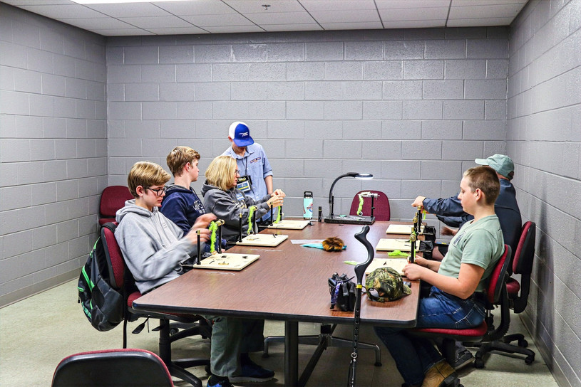 This is my youth beginner fly tying class on Saturday.