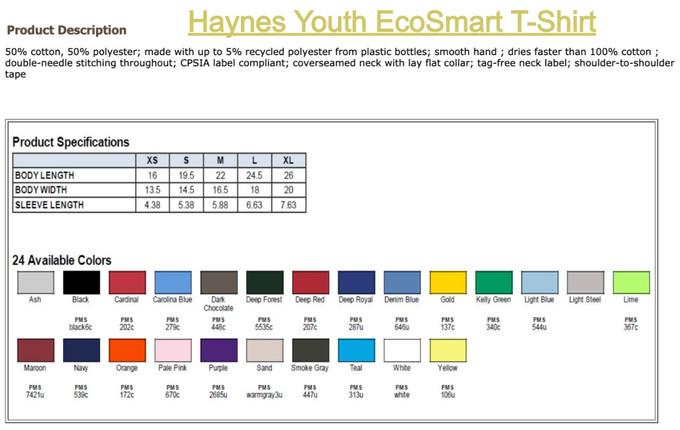 Hanes Youth EcoSmart T-Shirt