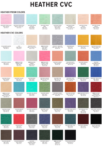 Heather CVC Color Chart