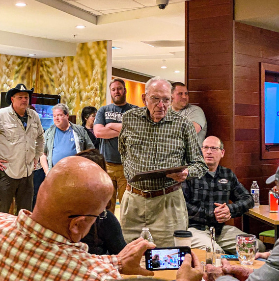 Walt Cary was awarded the Fly Fisherman of the Year Award.