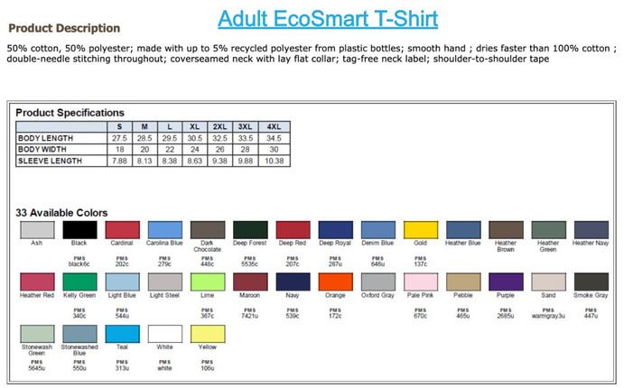 Hanes Adult EcoSmart T-Shirt
