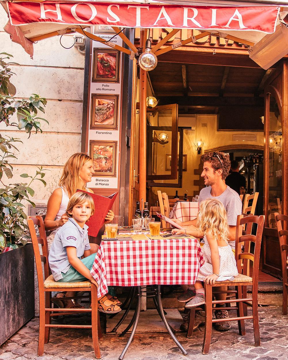 Restaurant typique, Rome, Italie