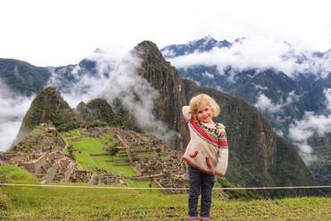 Le Machu Picchu avec des enfants