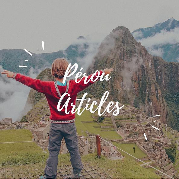 Pérou Articles