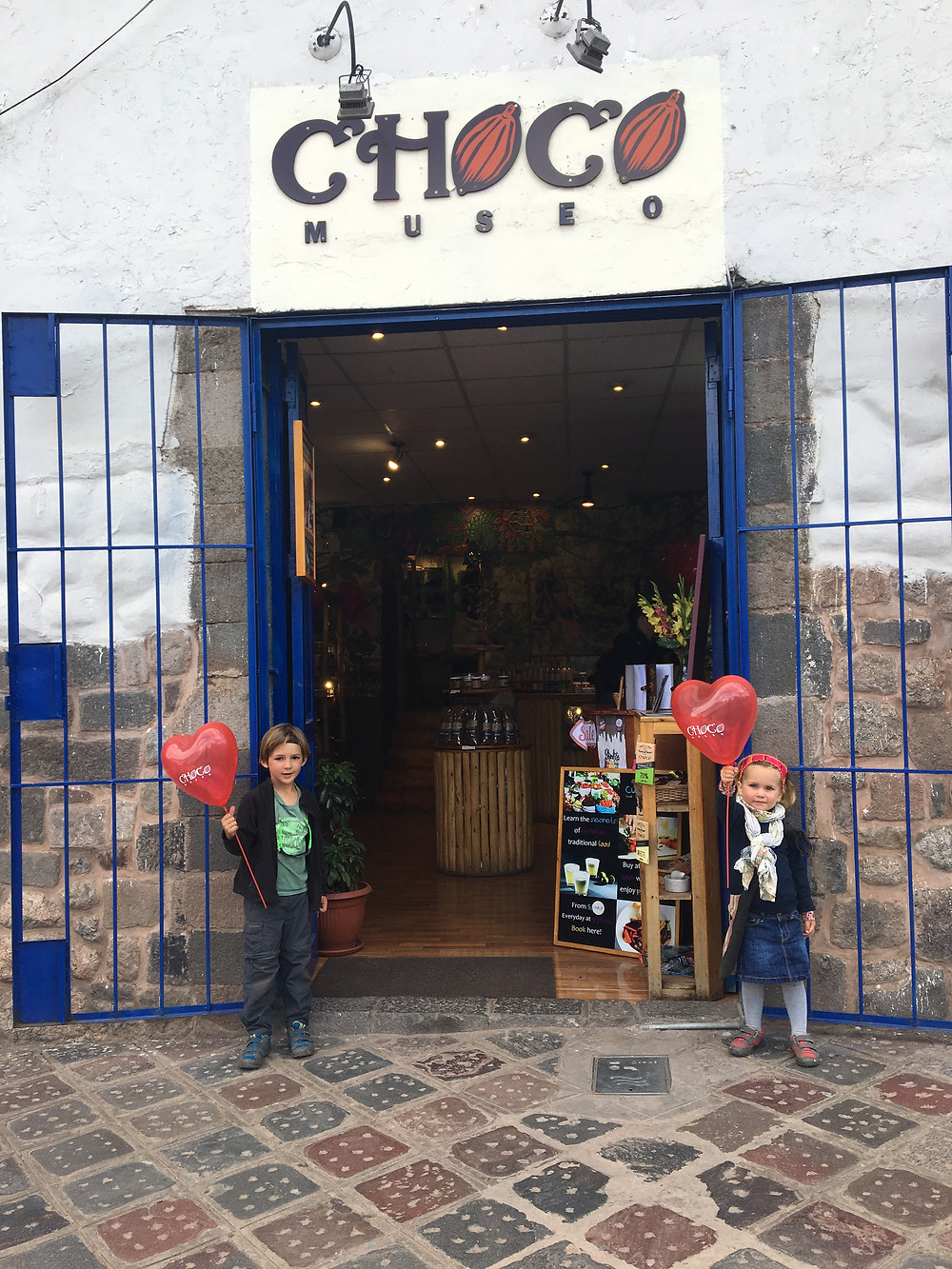Choco Museo Cusco with kids