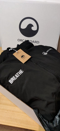 Personalised Orca Robe with Breathe in large font