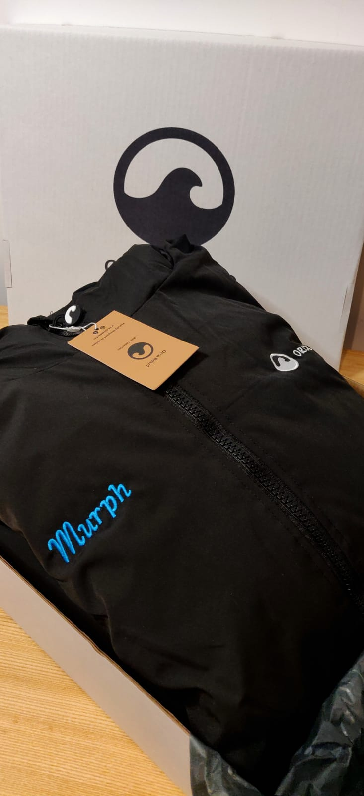 Personalised Orca Robe with Blue