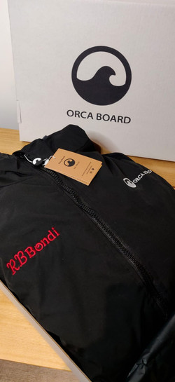 Personalised Orca Robe with Red
