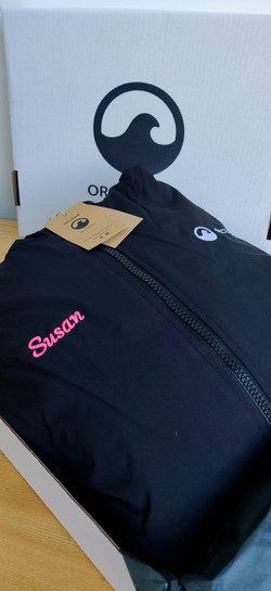 Personalised Orca Robe with Pink