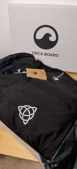Personalised Orca Robe with Celtic Cross
