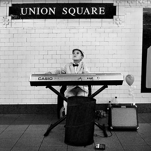 Boy with Electric Piano, Union Square NY