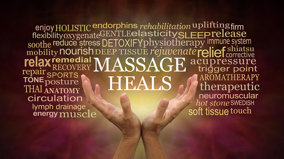 Massage heals word tag cloud - female ha