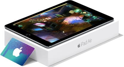 Apple Gift Card and iPad Air