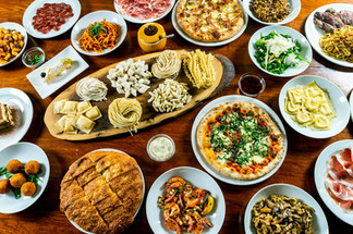 food table setup