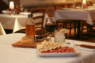 table setup with charcuterie