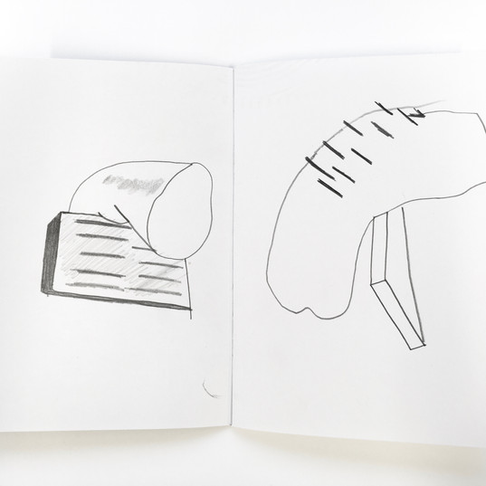 Drawing abstract mini sculptures