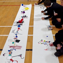 Different types of large scale drawing