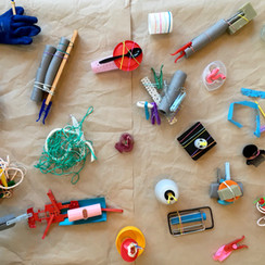 The first collection of abstract temporary mini sculptures, made from waste materials