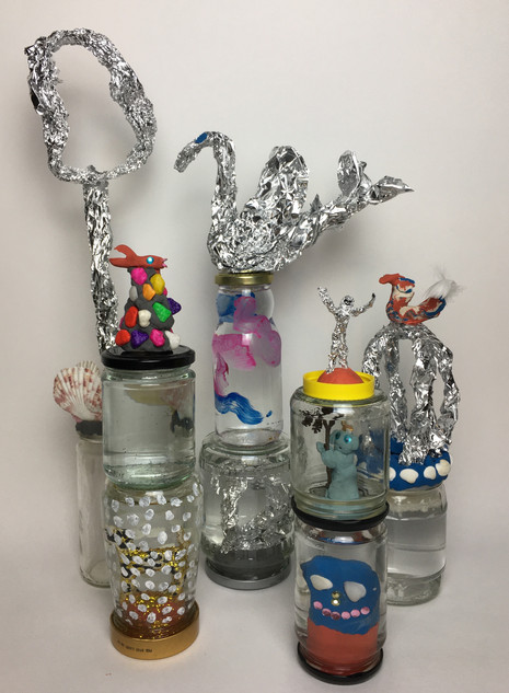 Sally Hackett - Jam Jar Sculptures