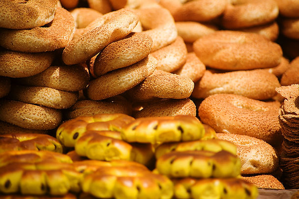 Food bread and bagles from Jerusalem